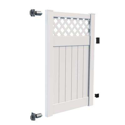Carlsbad 4 ft. W x 6 ft. H White Vinyl Un-Assembled Fence Gate