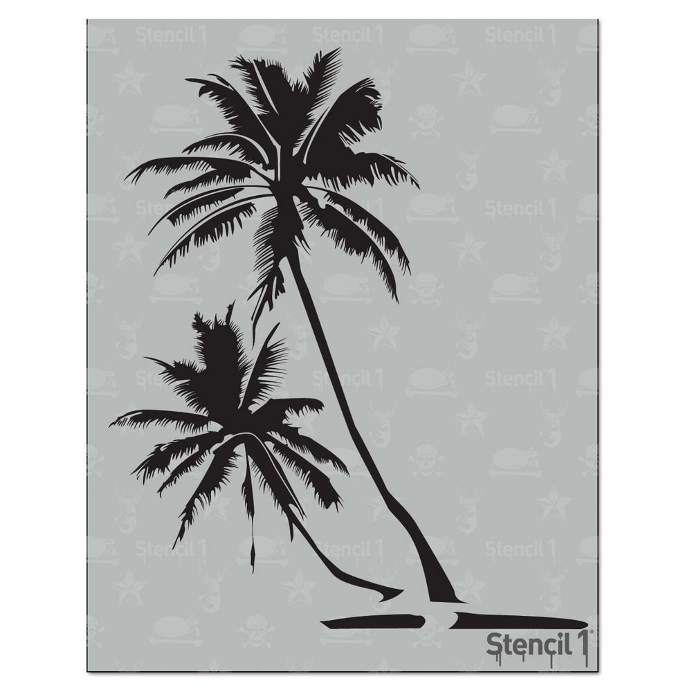 Palm Trees Stencil