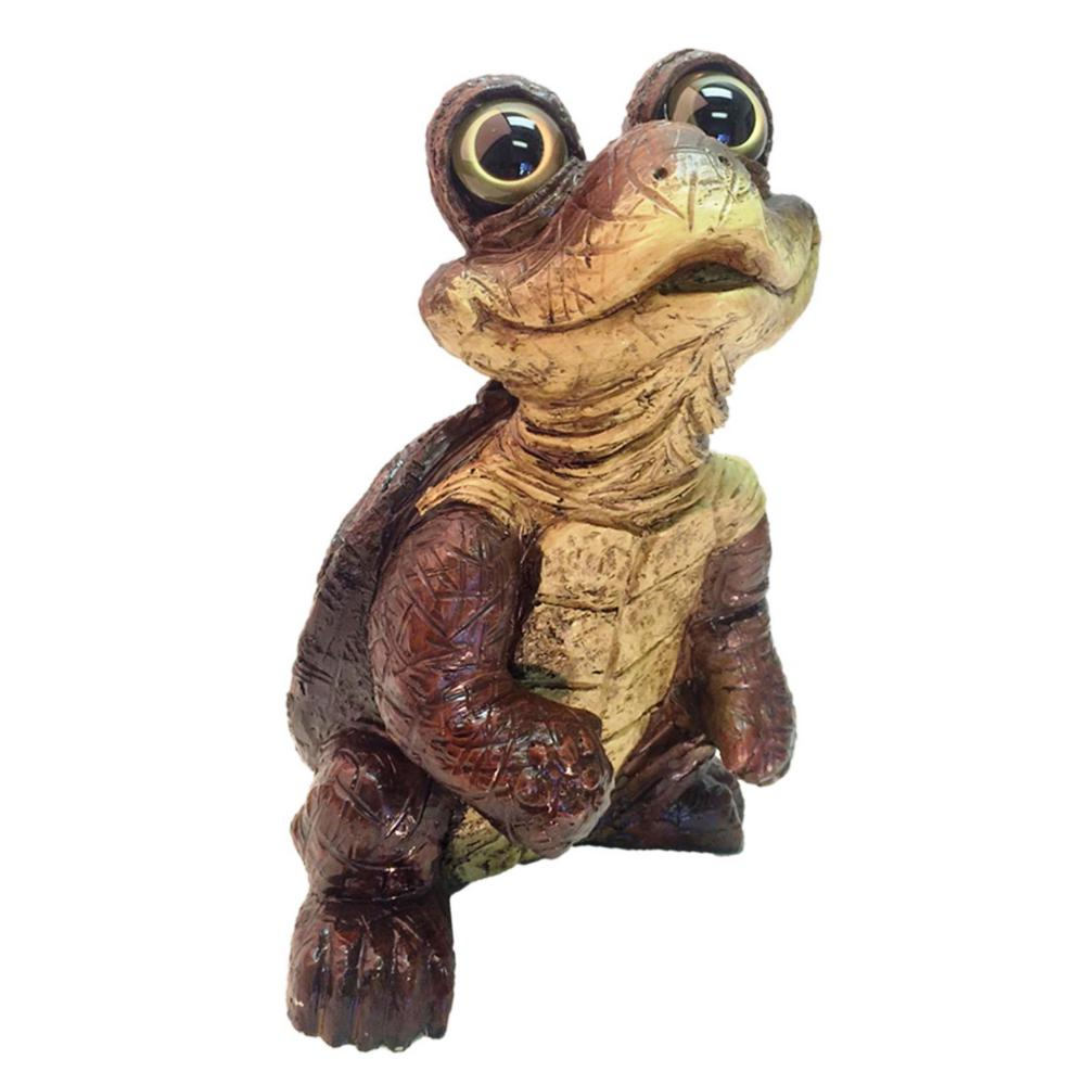 14-1/2 in. Standing Turtle Home and Garden Statue