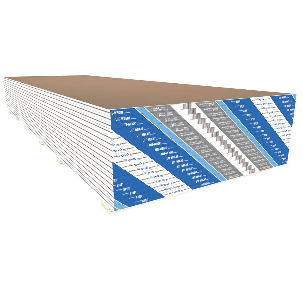 ToughRock 1/2 in  x 4 ft  x 8 ft  TE Lite-Weight Gypsum Board
