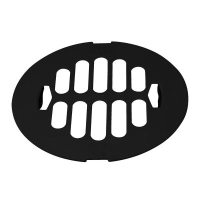 4-1/4 in. O.D. Snap-in Shower Drain Strainer in Matte Black
