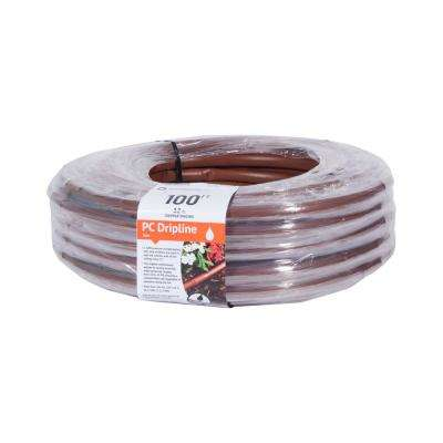 Earthline Brown PC 100 ft. 1 GPH, Pressure Compensating Drip Line with 12 Spacing