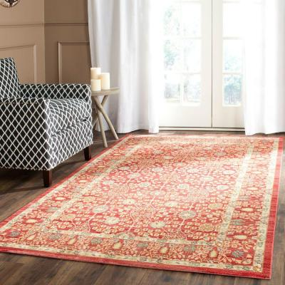 Valencia Red 8 ft. x 10 ft. Area Rug