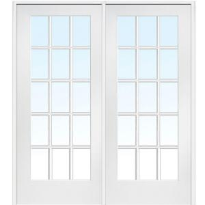 Classic Clear Glass 15 Lite Interior French Double