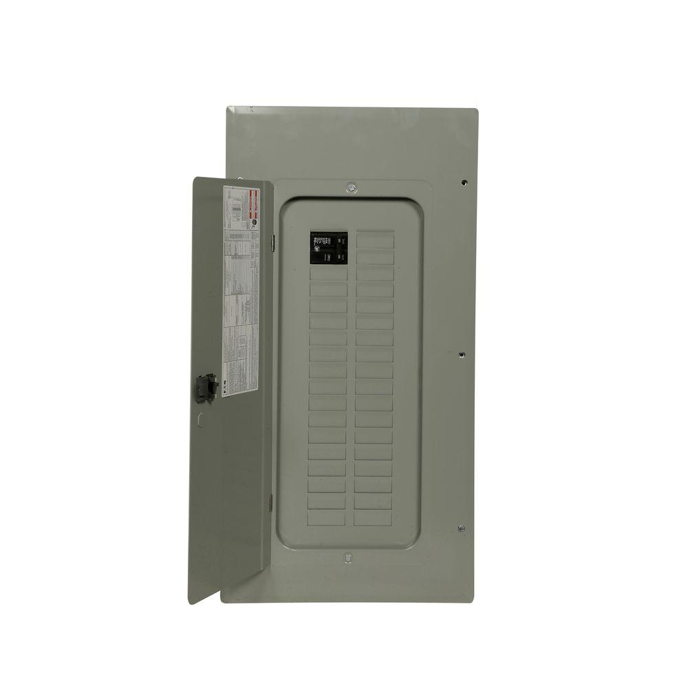 Eaton br 100 amp 10 space 20 circuit indoor main breaker renovation br 100 amp 30 space 30 circuit indoor 22k main breaker loadcenter with greentooth Gallery