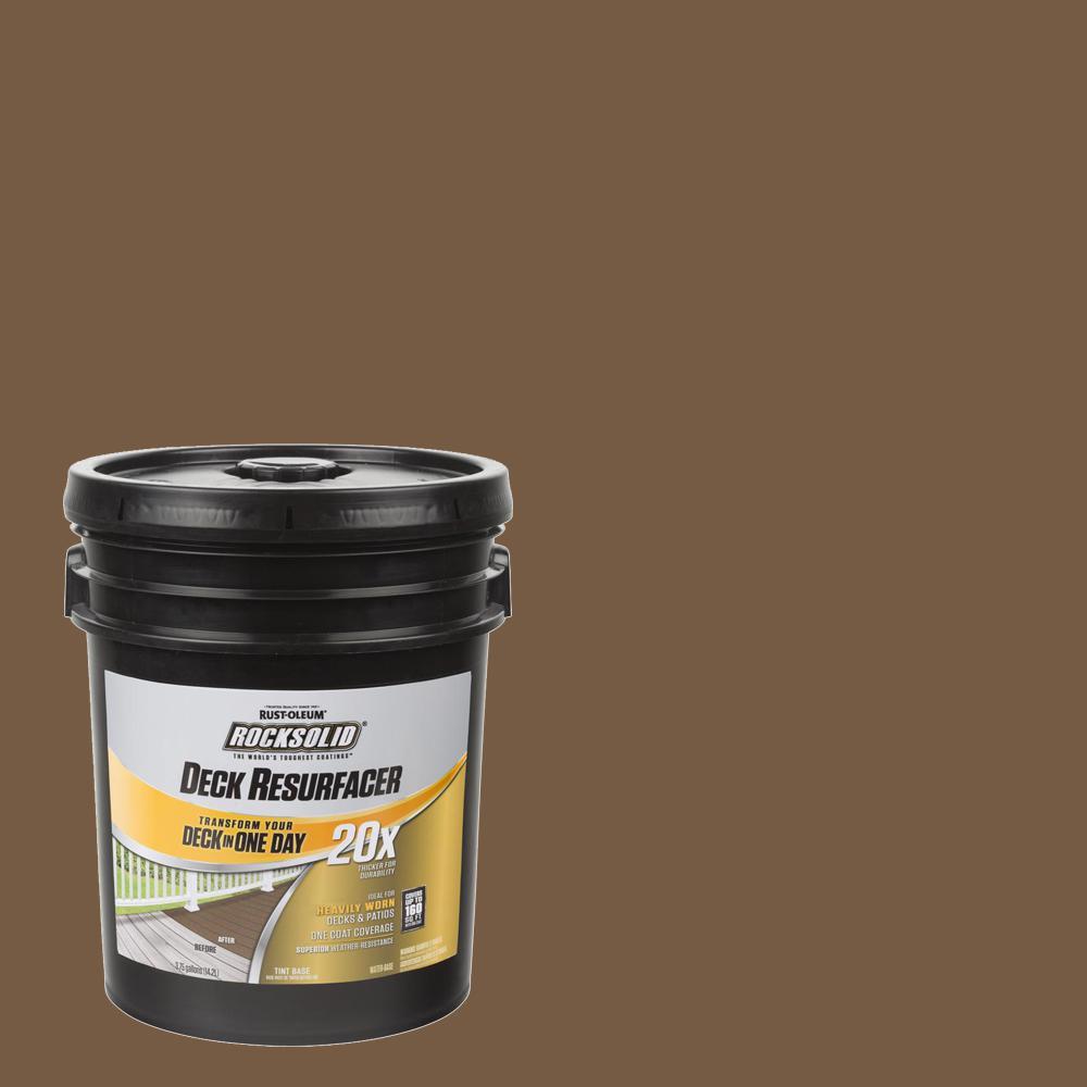 Rust-Oleum RockSolid 4 gal. Chocolate Exterior 20X Deck Resurfacer
