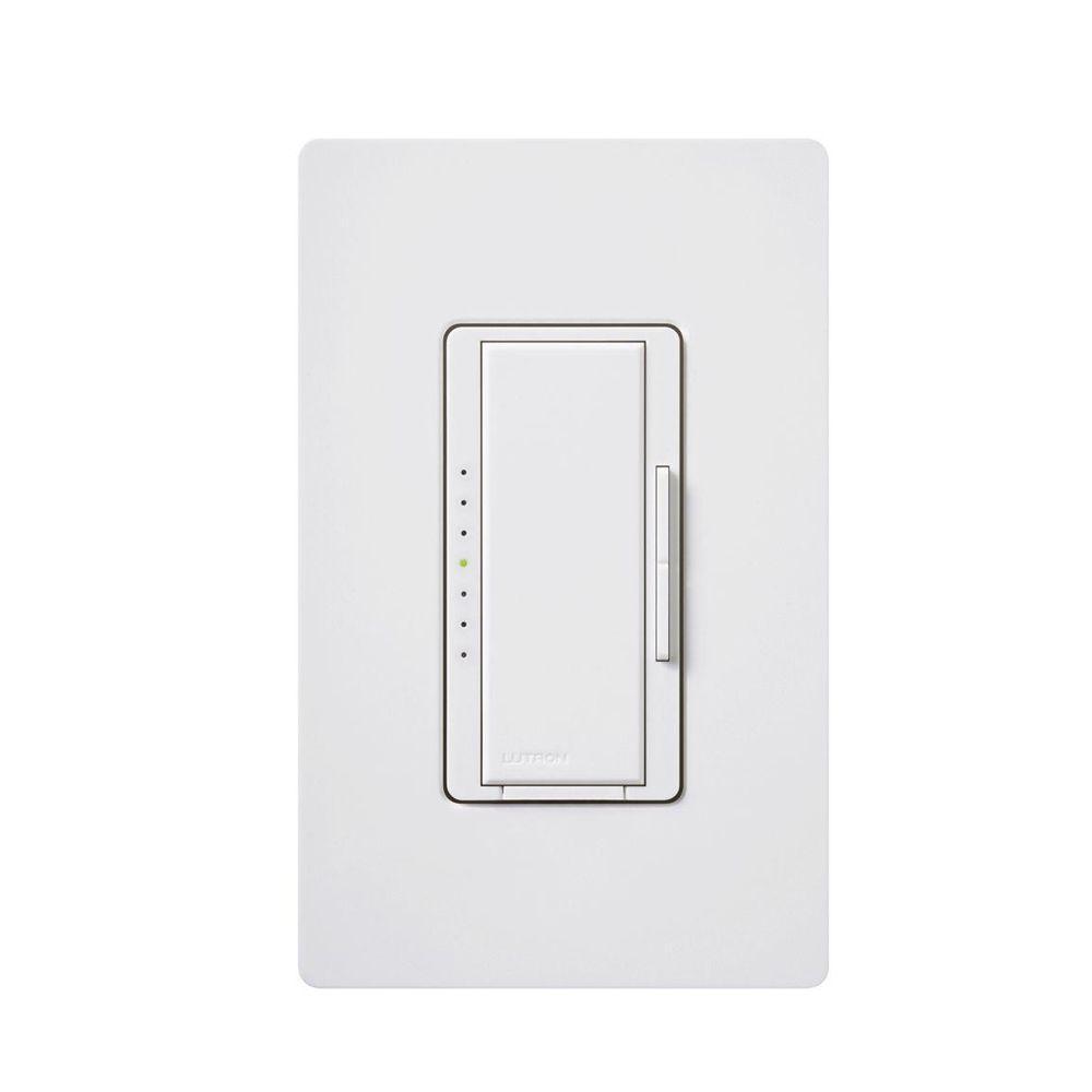 Lutron Maestro 600-Watt Multi-Location Magnetic Low-Voltage Digital Dimmer - White