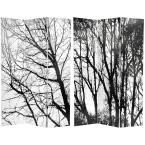 6 ft. Printed 3-Panel Trees Room Divider