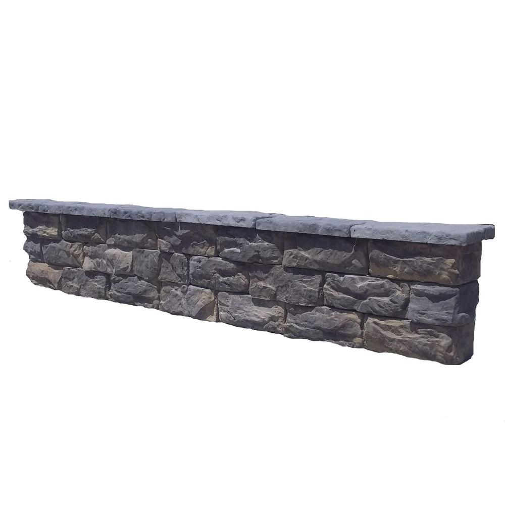 Natural Concrete Products Co 64 in. Fossill Limestone Seat Wall