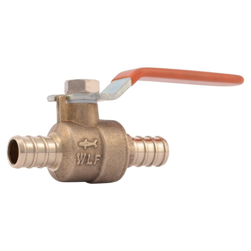 SharkBite SharkBite 1/2 in. Brass PEX Barb x Barb Ball Valve