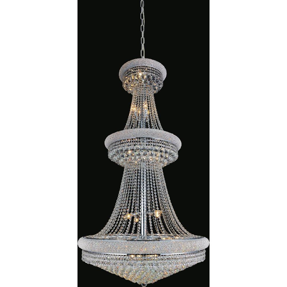 CWI Lighting Empire 34-light chrome chandelier