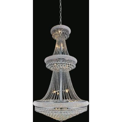 Empire 34-light chrome chandelier