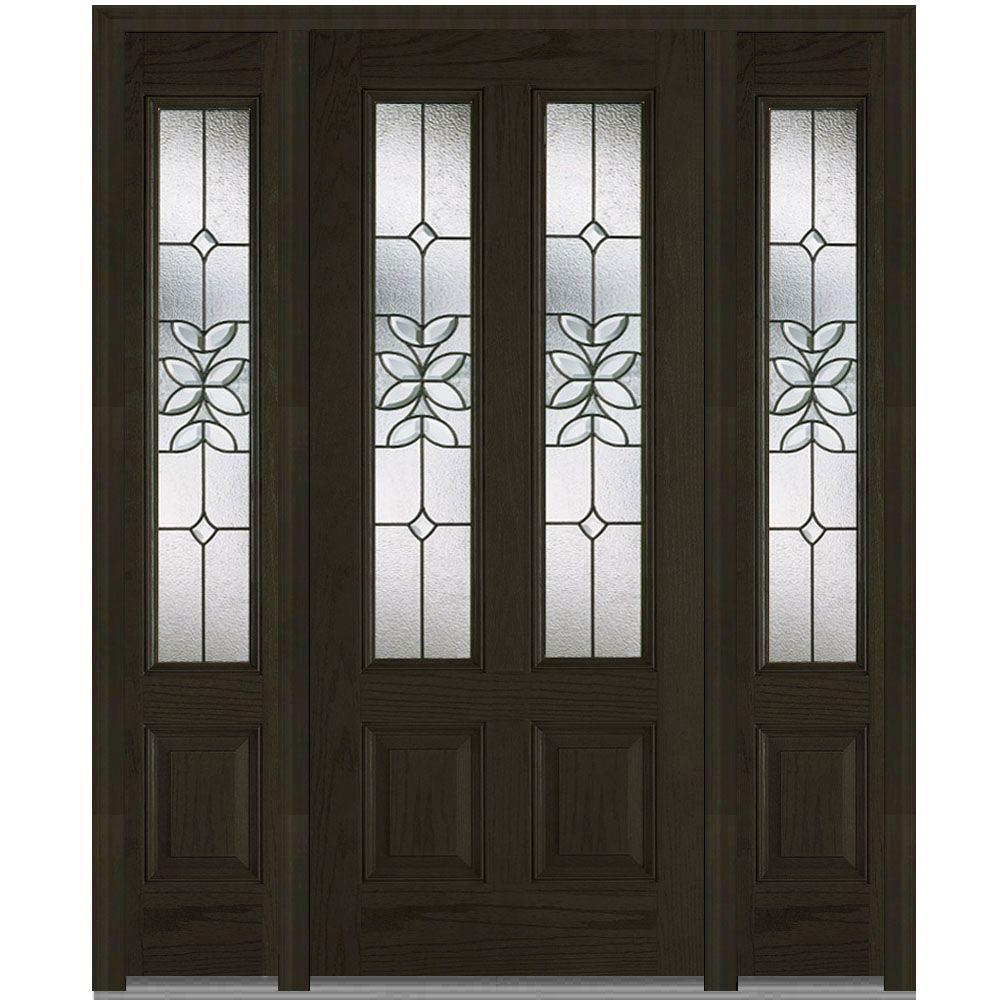 64.5 in. x 81.75 in. Cadence Decorative Glass 2 Lite Finished