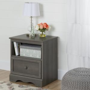 bathroom ideas images south shore 1 drawer gray maple nightstand 10427 10427