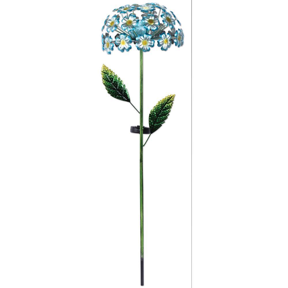 42 in. Solar Blue Hydrangea Stake