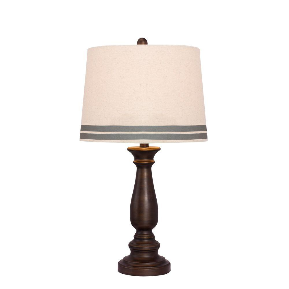 26 in. Oil-Rubbed Bronze Table Lamp