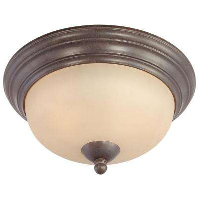 Triton 2-Light Sable Bronze Ceiling Flushmount