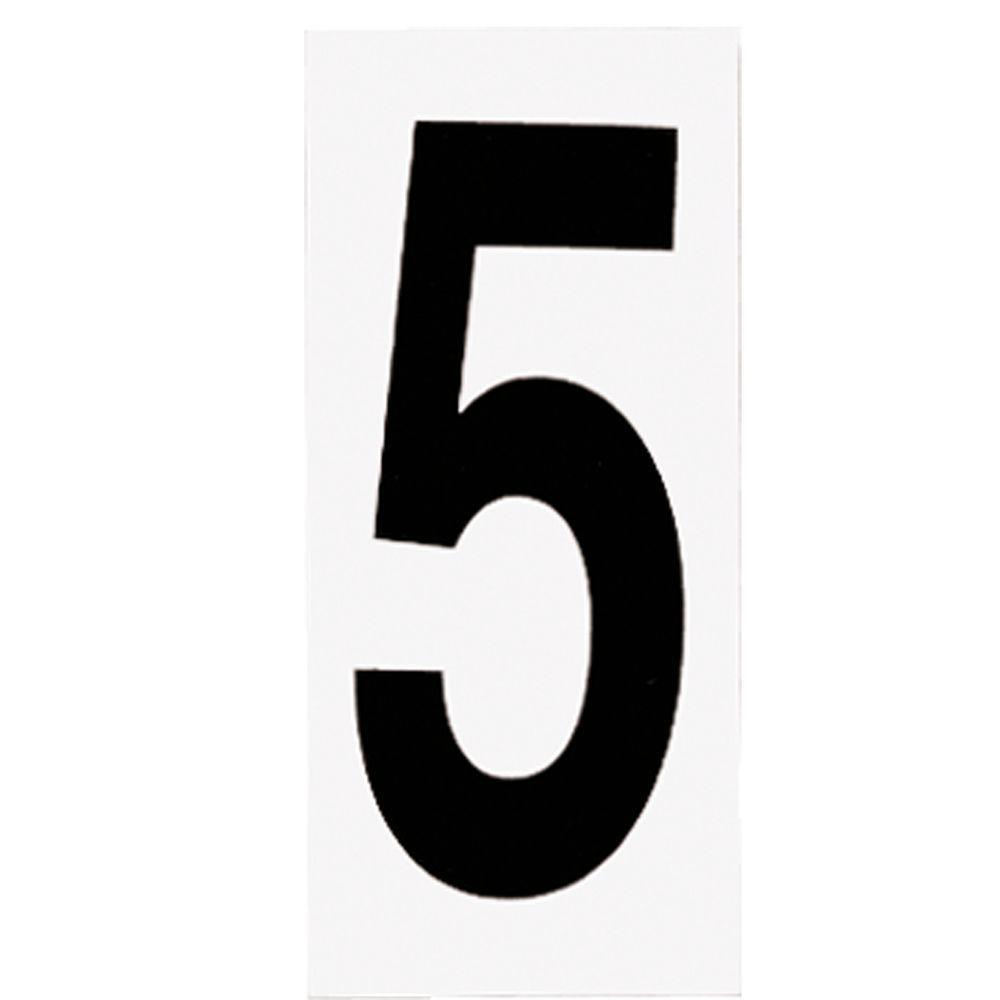 Address Light Number Tile, No. 5