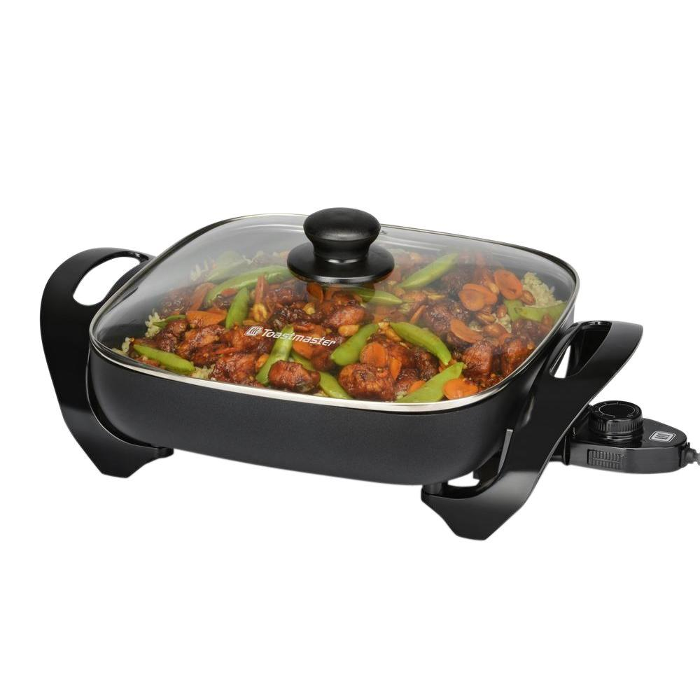 Toastmaster non stick electric skillet 2345 the home depot Toastmaster cool touch exterior deep fryer