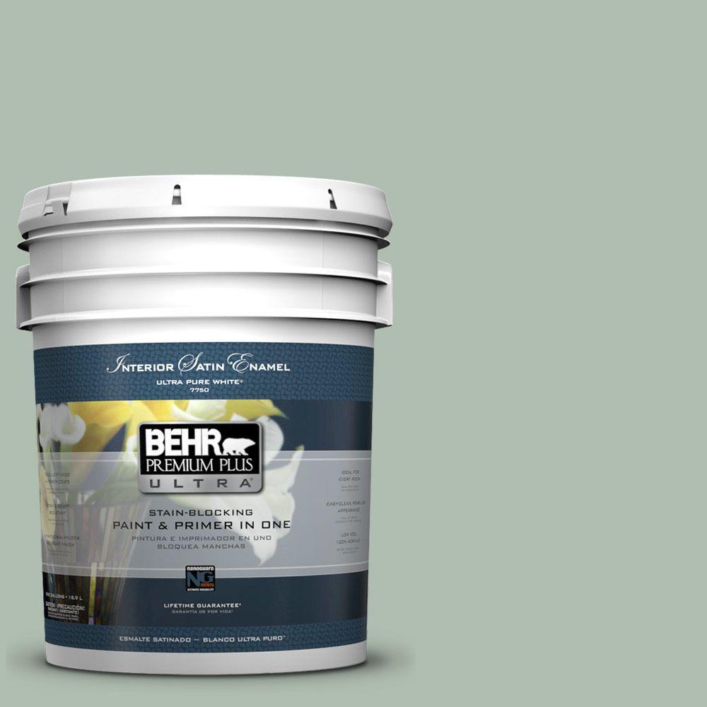5-gal. #450E-3 Southern Breeze Satin Enamel Interior Paint