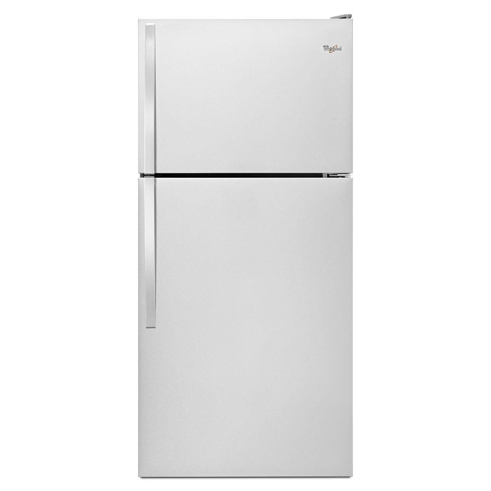 Whirlpool 30 in. W 18.2 cu. ft. Top Freezer Refrigerator in ...