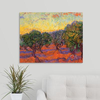 """Grove of Olive Trees"" by Vincent Van Gogh Canvas Wall Art"