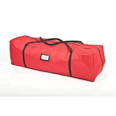 48 in. Red Polyester Multi-Use Rolling Christmas Storage Bag for Garlands Trees Lights and More