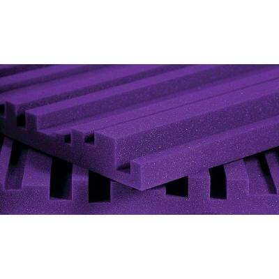 2 ft. W x 4 ft. L x 2 in. H Studio Foam Metro Panels - Purple (12 Panels per Box)