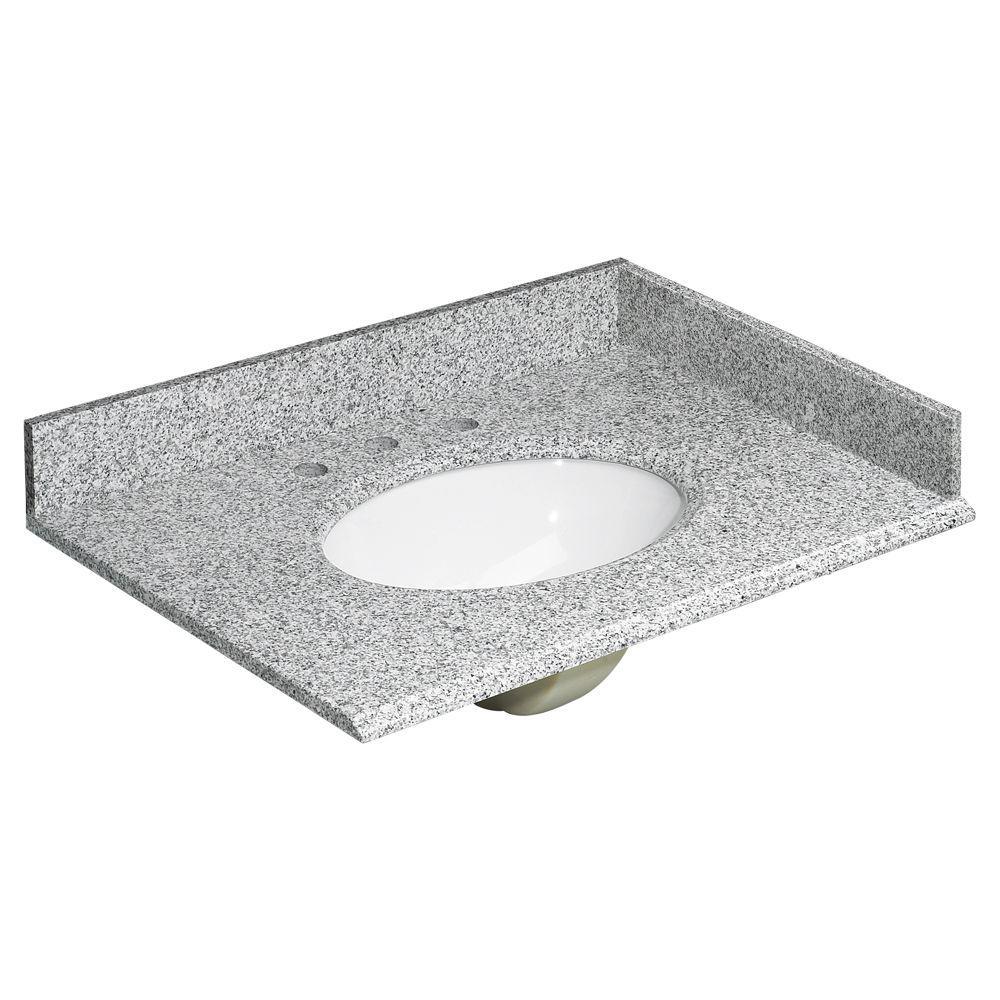 - Home Decorators Collection 31 In. W Granite Vanity Top In Rushmore