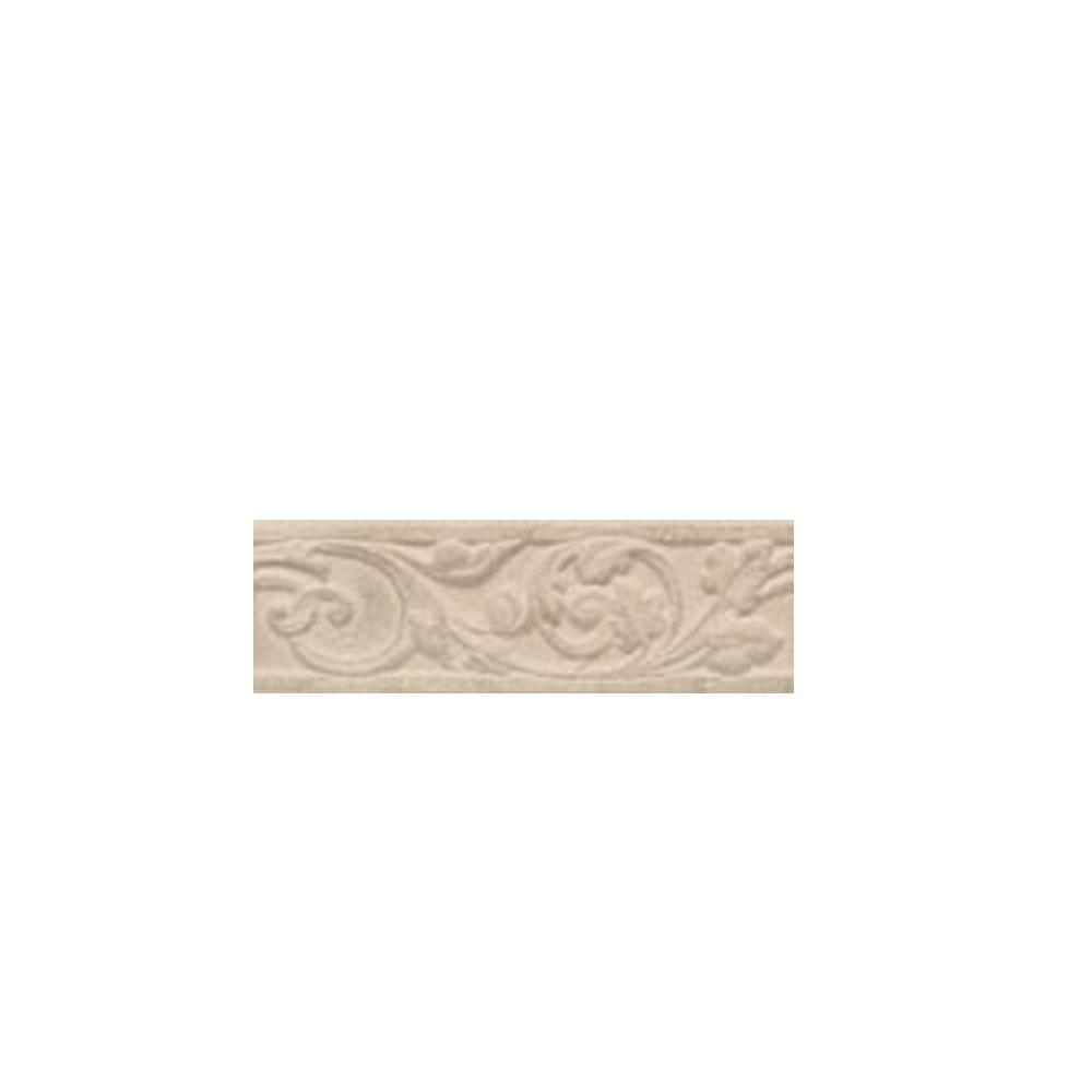 Carano Floral Birch 3 in. x 10 in. Decorative Trim Floor