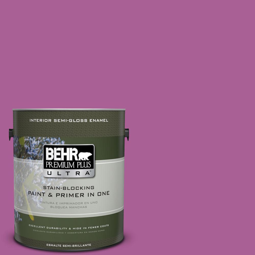 1-gal. #680B-6 Exotic Bloom Semi-Gloss Enamel Interior Paint