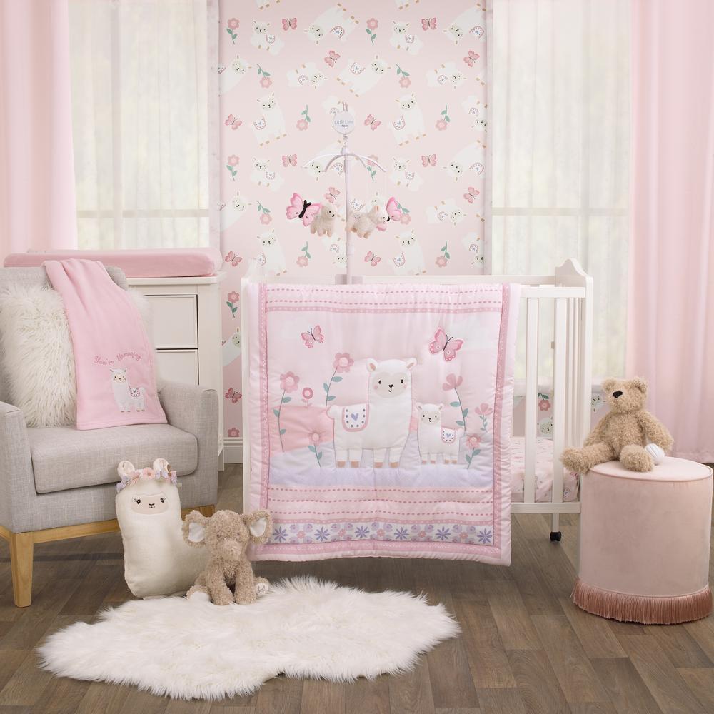 Purple 3 Piece Mini Crib Bedding Set, Purple Elephant Mini Crib Bedding