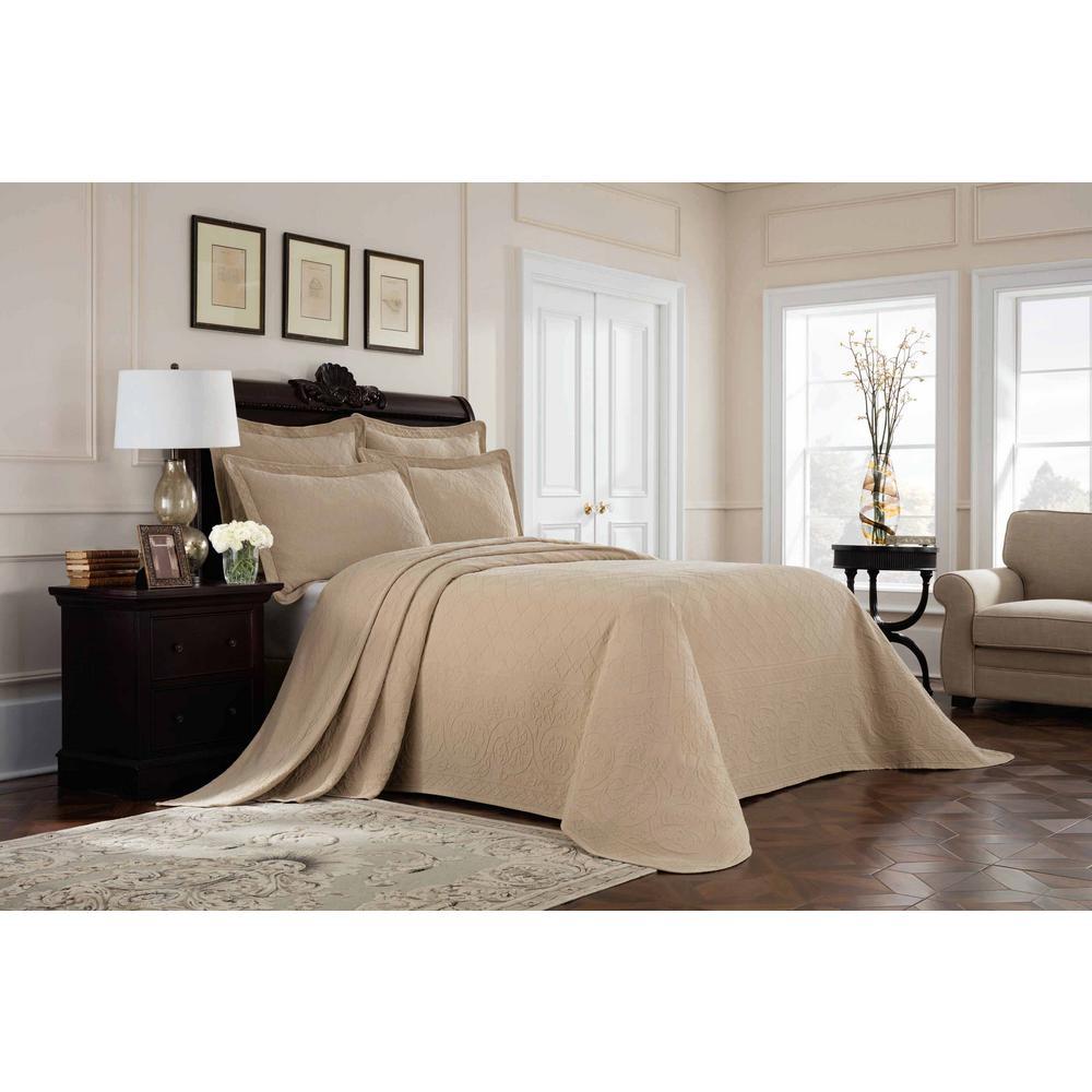 Williamsburg Richmond Linen Queen Bedspread