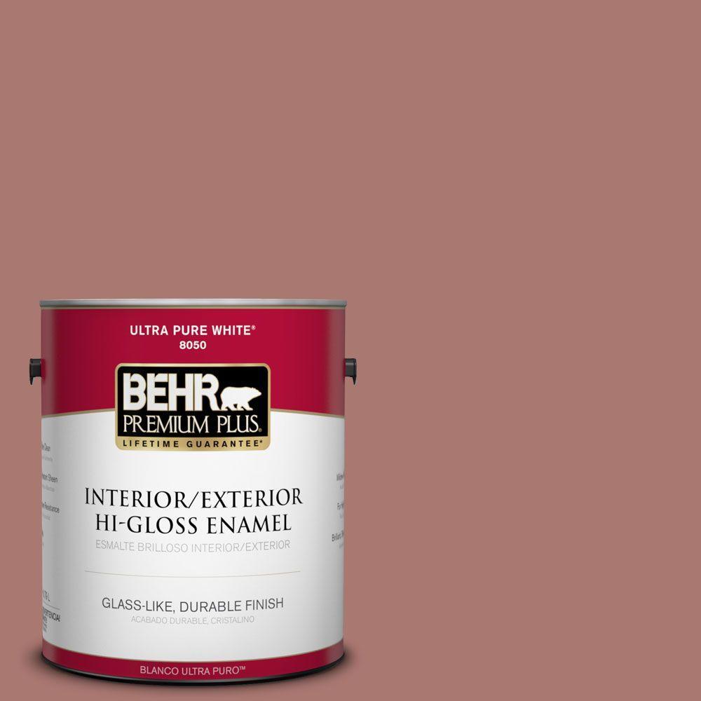 1-gal. #160F-5 Rum Spice Hi-Gloss Enamel Interior/Exterior Paint