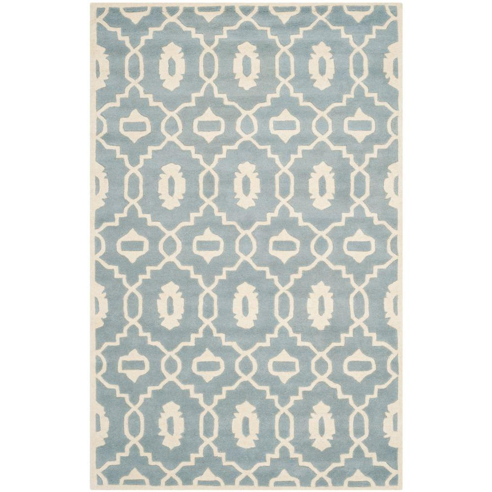 Chatham Blue/Ivory 4 ft. x 6 ft. Area Rug