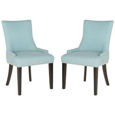 Lester Sky Blue Linen Blend Dining Chair (Set of 2)