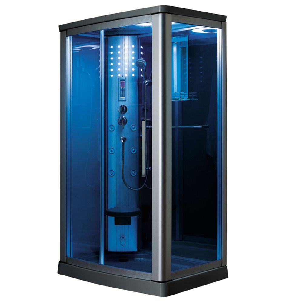 45.5 in. x 34.5 in. x 85 in. Steam Shower Enclosure