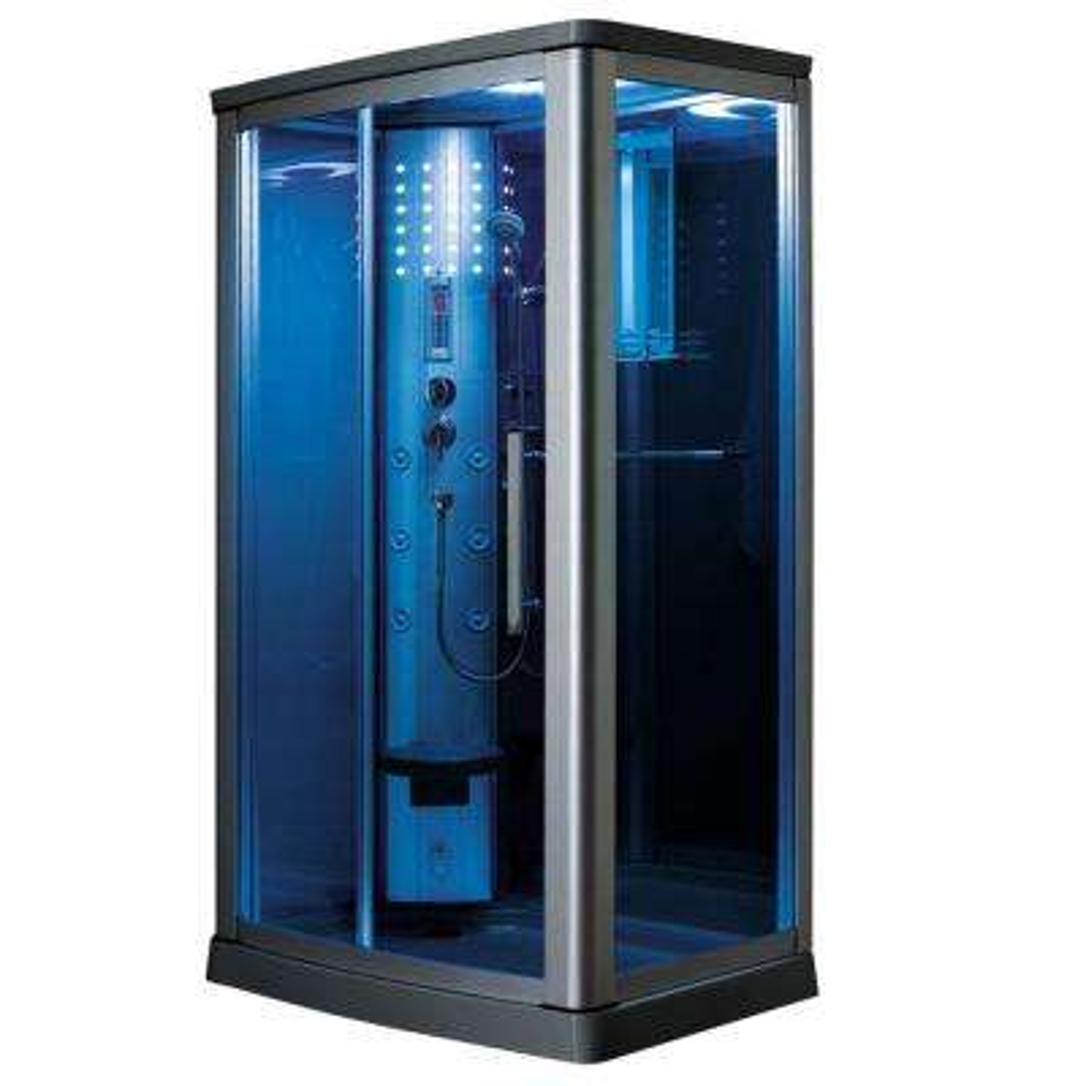 45.5 in. x 34.5 in. x 85 in. Steam Shower Enclosure Kit in Blue