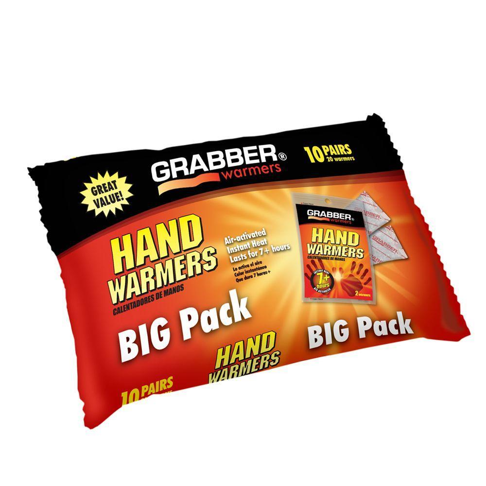 Grabber Hand Warmers Big Pack (10-Pair)