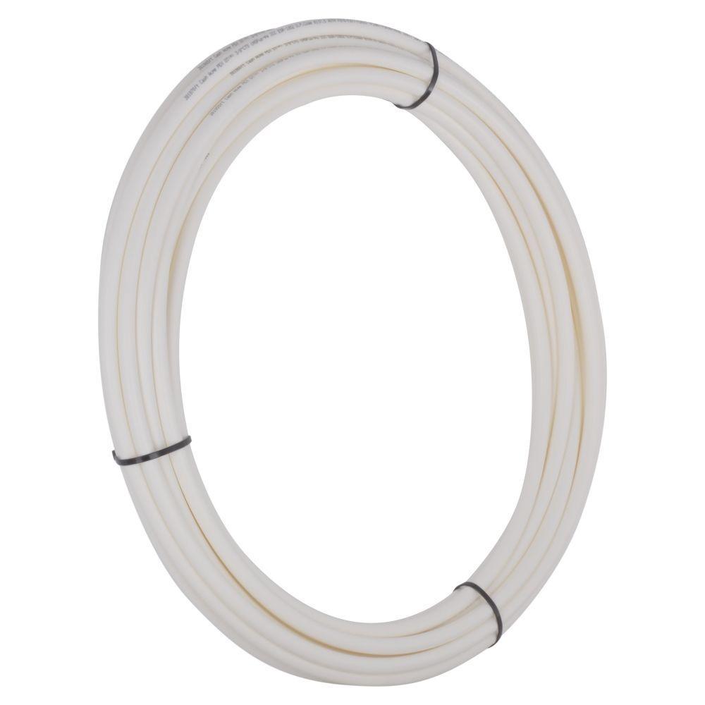 Sharkbite 3 8 in x 50 ft white pex pipe u855w50 the for Pex drain pipe