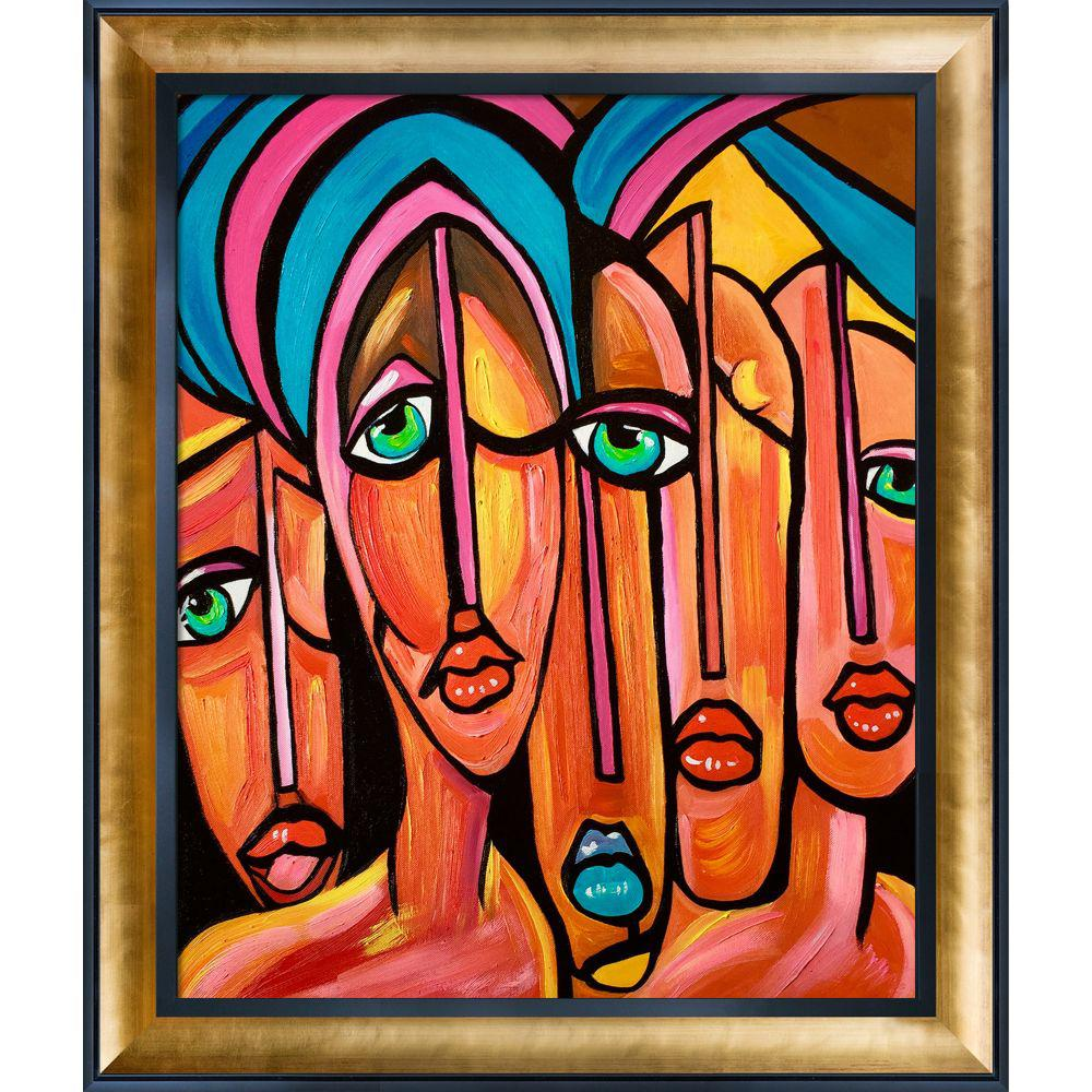 ArtistBe Picasso by Nora, Four Eyes Reproduction with Gold Luminoso and Black Custom Stacked Frameby Nora Shepley Canvas Print, Multi-color was $997.01 now $484.56 (51.0% off)