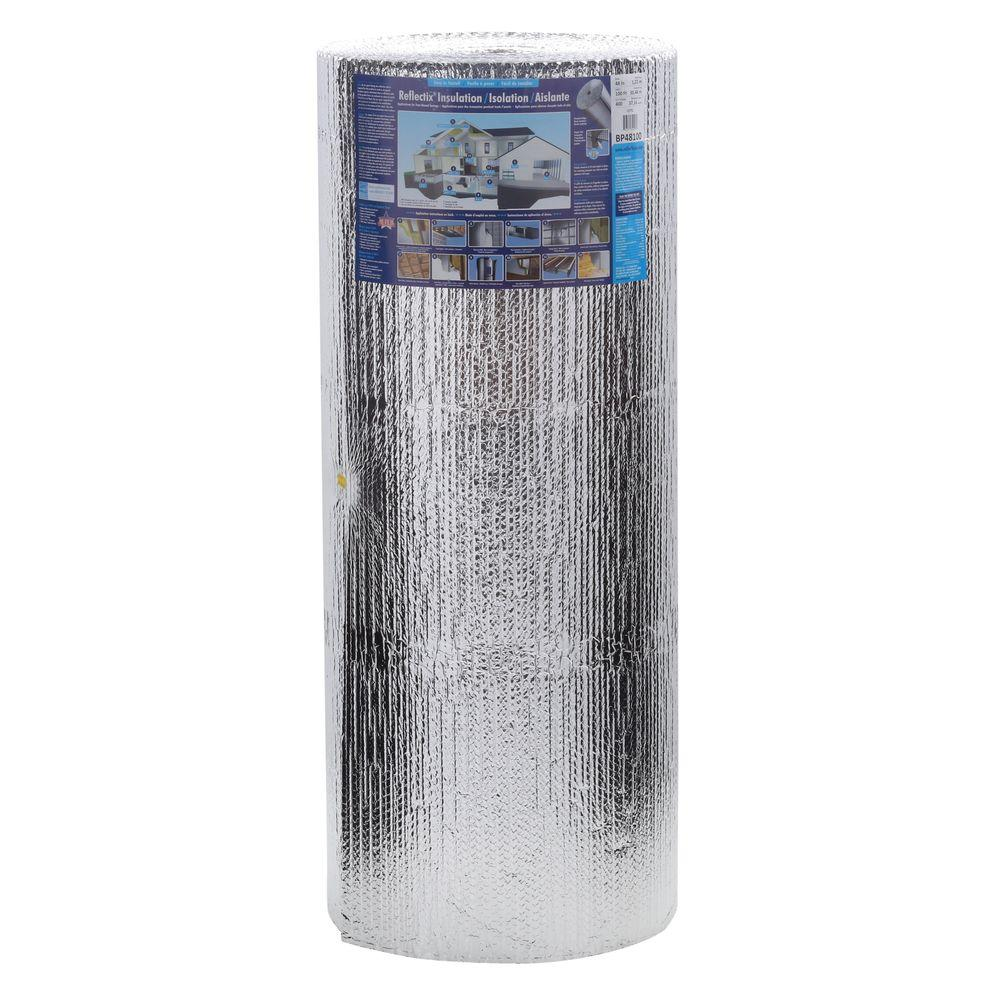 Reflectix 48 in  x 100 ft  Double Reflective Insulation Roll