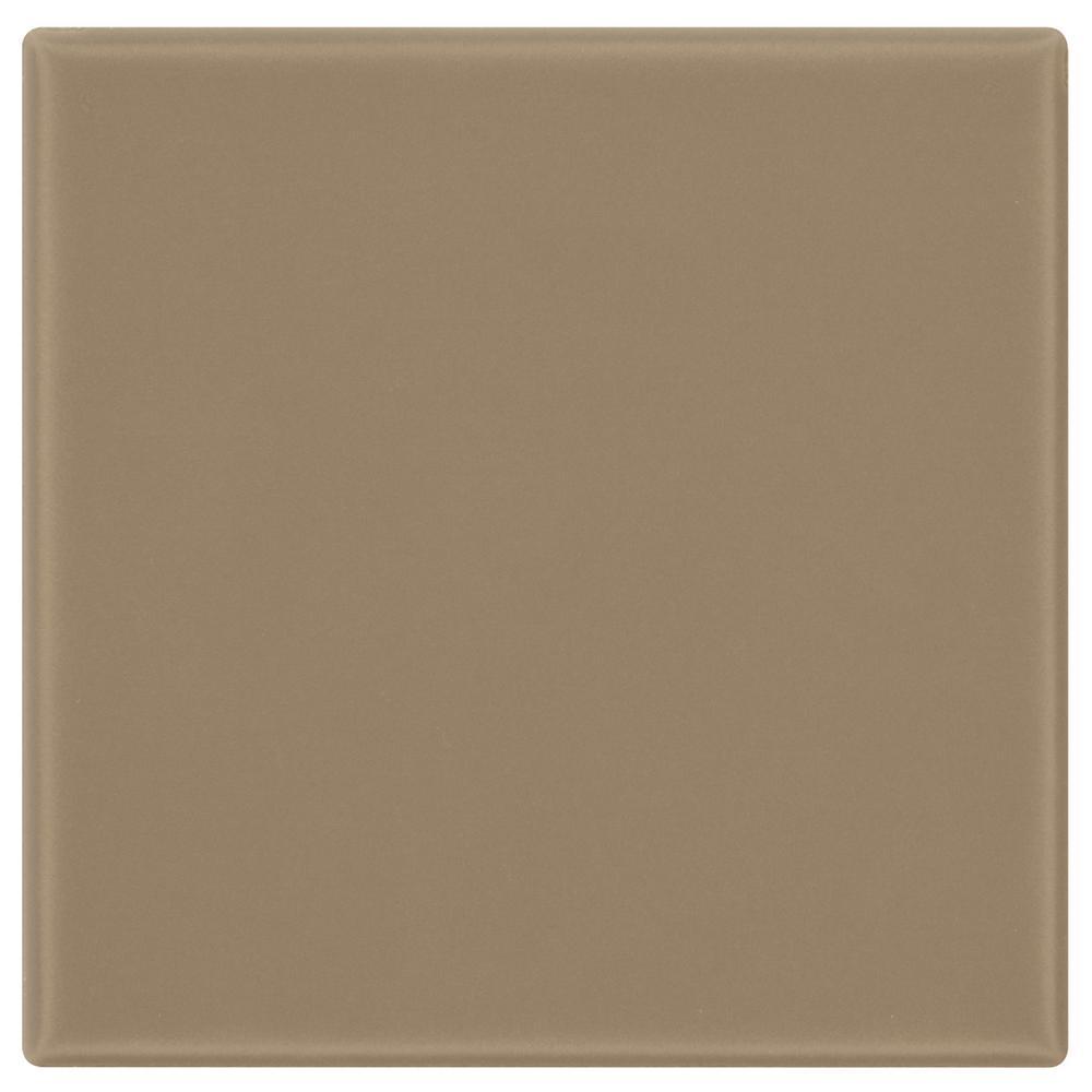 Daltile Semi-Gloss Elemental Tan 4-1/4 in. x 4-1/4 in. Ceramic Wall Tile (12.5 sq. ft. / case)