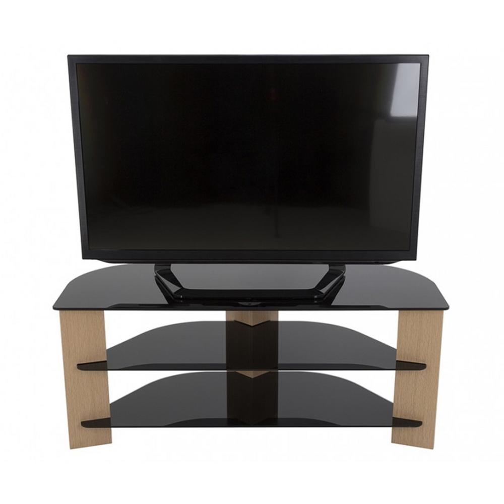 Varano Oak and Black Entertainment Center
