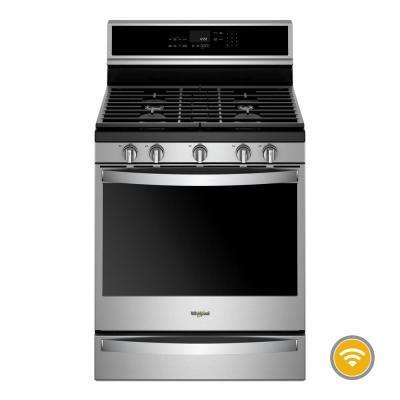 5.8 cu. ft. Smart Gas Freestanding Range in Fingerprint Resistant Stainless Steel