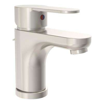 Identity Single Hole Single-Handle Bathroom Faucet with Drain Assembly in Brushed Nickel (1.0 GPM)