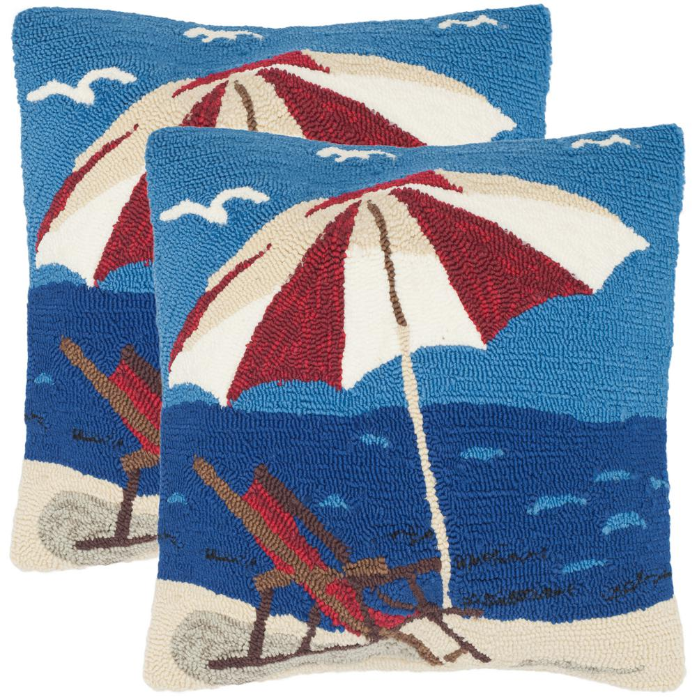 Safavieh Beach Lounge Soleil Square Outdoor Throw Pillow (Pack of 2)