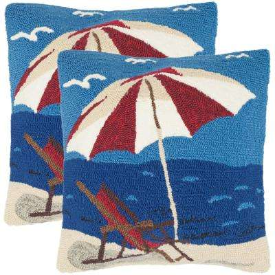 Beach Lounge Soleil Square Outdoor Throw Pillow (Pack of 2)