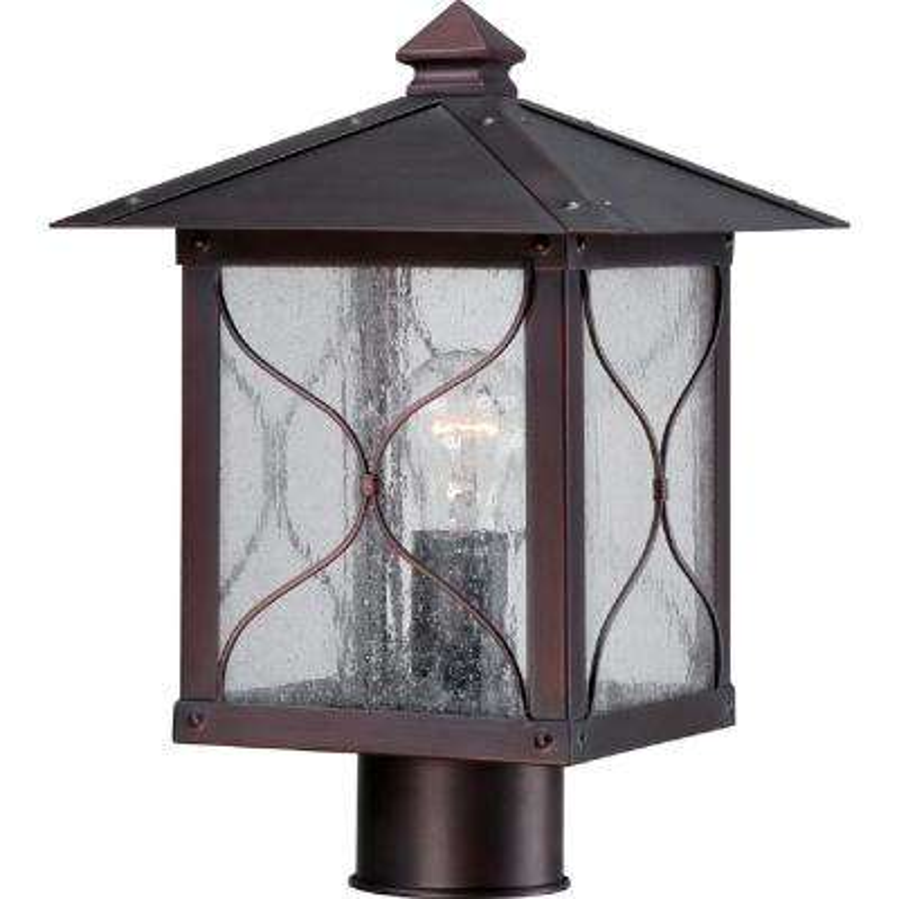 Steve 1-Light Rustic Bronze Outdoor Post Light