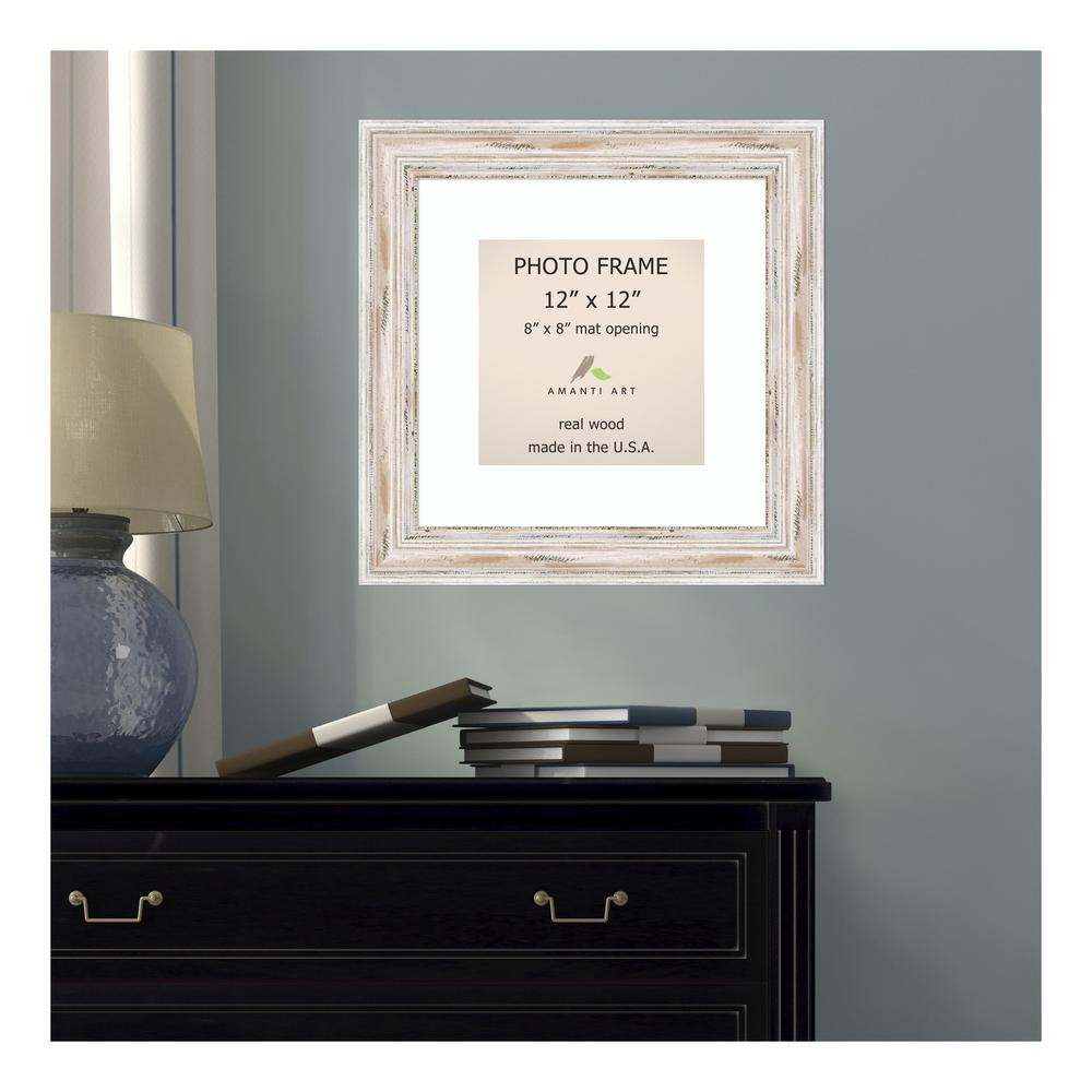 Amanti Art Alexandria 8 In X 8 In Whitewash Picture Frame